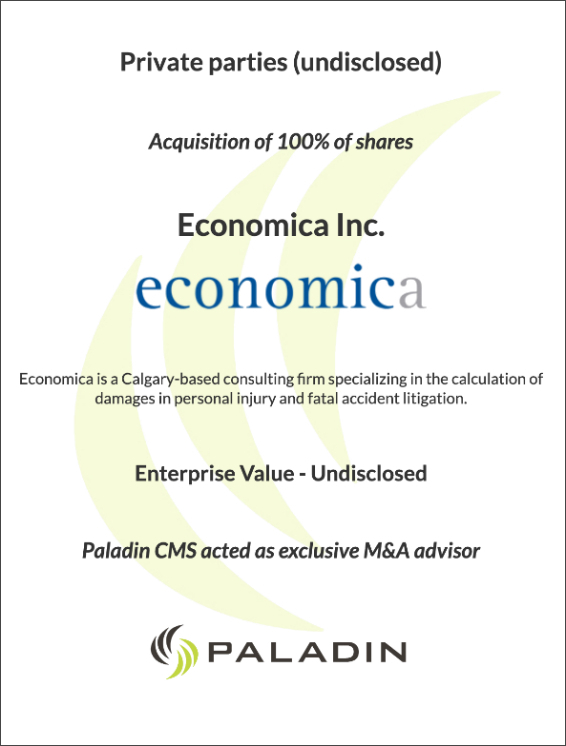 Paladin CMS exclusive M&A advisor
